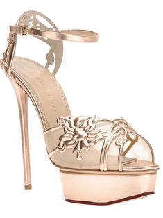 Charlotte Olympia 'Meropolita' Sandal in Rose Gold #Shoes #Heels