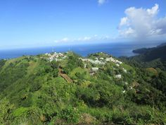 Peaceful village on the higher place of st Vincent