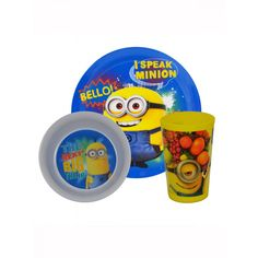 Despicable Me Minions Tumbler, Bowl and Plate Dinnerware Set