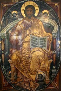 Christ the Pantocrator Catholic Memes, Catholic Art, Religious Icons, Religious Art, Christus Pantokrator, Blacks In The Bible, Vintage Tarot Cards, Faith Of Our Fathers, Greek Icons