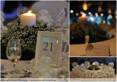 White wedding centerpiece by Concept Events Planning | www.concept-events.gr