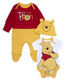 Winnie the Pooh Set - 3 Piece - co-ordinated sets - Mothercare