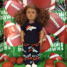 Colorado BRONCOS !  18 Inch Doll Clothes , Handmade ,Fits All 18 Inch Dolls ,  2 pc Outfit by BlueCowDesigns on Etsy