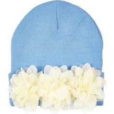 Women's sale - check out River Island's latest sale items available online. Shop our latest special offers and great deals, before it's too late. Cream Hats, River Island Fashion, Light Blue Flowers, Flower Hats, On The High Street, Diy Projects To Try, Beanie Hats, Womens Scarves