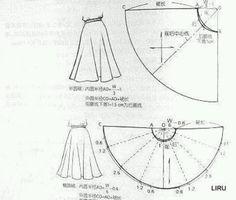 Pola skirt kembang