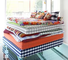 Missoni's collaboration with Hästens was a lighthearted take on the princess and the pea fable.