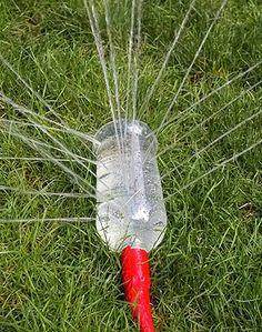 Irrigando ou brincando? Uma dica prática e divertida para o jardim