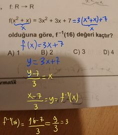 Please do the function please - YKS-TYT / Mathematics - Responsive Math Quotes, Irrational Numbers, School Organization Notes, Study Notes, Study Tips, Mathematics, 3 D, Literature, Science