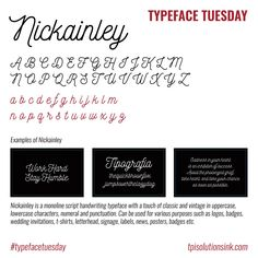 How about this pretty handwritten #font? Nickainley is our choice this #TypefaceTuesday
