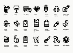 Headphones look a little like a bug. pictograms by David Galasse
