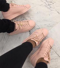 flush pink Adidas sneakers
