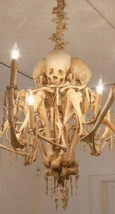Wonderfully Frightful Skeleton Chandelier