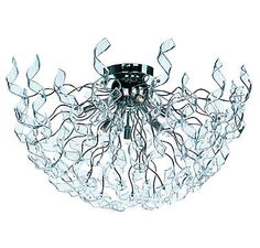 ET2 Zest 6-Light Flush Mount in Polished Chrome with Clear Glass