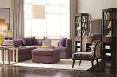 Marisa: Dimensions: 87W x 85D x 32H  Description: Welcome HGTV! Fun and fabulous fabric sectional. Also available as a sofa or with storage ottoman. Available in three beautiful fabric selections: Ivory, Plum and Blue. Finish as shown only.