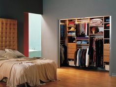 How to deal with a deep corner in a reach in closet | Organized ...