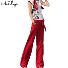 c6fd9e080c029 Cheap wide leg pants, Buy Quality red trousers directly from China pants  loose Suppliers: Makuluya 2017 FREE PANTS Better Linen pants loose solid  color wide ...