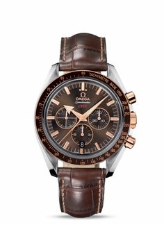 OMEGA Watches: Speedmaster Broad Arrow - Steel-red gold on leather strap - 321.93.42.50.13.001  $8,100