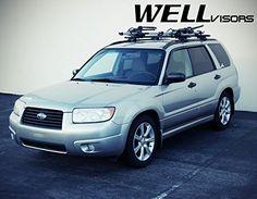 WellVisors Premium Series Side Rain Guard Window Visors Deflectors For 06-08 Subaru Forester 2006 2007 2008 06 07 08
