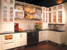 There is a trick you can use to make your metal kitchen cabinet doors look more interesting and attractive than combine it with other material and colors. Types Of Kitchen Cabinets, Affordable Kitchen Cabinets, Stainless Steel Kitchen Cabinets, Glass Kitchen Cabinet Doors, Kitchen Cabinets Pictures, Outdoor Kitchen Cabinets, Kitchen Cabinet Styles, Kitchen Images, Kitchen Ideas