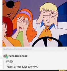 See more 'Scooby-Doo' images on Know Your Meme! Stupid Funny Memes, Haha Funny, Hilarious, Funny Stuff, Funny Troll, Cartoon Memes, Cartoons, Scooby Doo Memes, Fred Scooby Doo