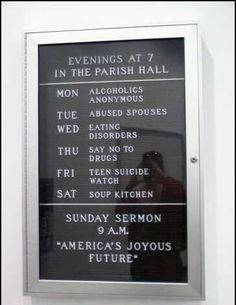 oh, how I love church signs