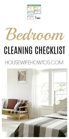 Weekly Bedroom Cleaning Checklist | Easy to follow and gives my room a professional-level clean. #cleaningchecklist #cleaning #cleaningroutine #chores #housework