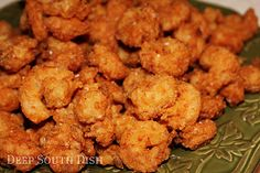 Classic Southern Fried Shrimp - Fresh Gulf Coast shrimp, dusted with a light coating of seasoned flour & deep fried to crunchy perfection. Southern Fried Shrimp Recipe, Fried Shrimp Recipes, Shrimp Dishes, Fish Recipes, Seafood Recipes, Great Recipes, Favorite Recipes, Deep Fried Shrimp, How To Fry Shrimp