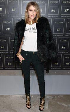 elena perminova balmain x H&M