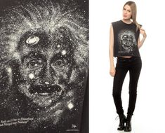 Albert Einstein Shirt Outer Space Vintage Galaxy by ShopExile, $58.00