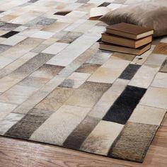 Tapis en cuir 399 90 160x230 cm corbus maisons du monde my home wish - Tapis laine contemporain solde ...