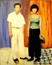 """Krouch and Sivorn"" (2005) portrait by Caroline Wampole"
