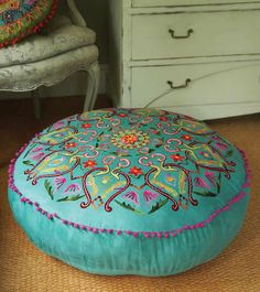 ethicalsuperstore.com fair trade embroidered pouffe, £115.00