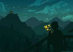 I took like eighty million screenshots while playing Firewatch today because it was so pretty, figured I might as well use them for fanart reference. It was a very beautiful and atmospheric game, I...
