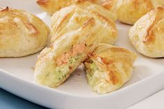 Salmon and cream cheese rolls recipe, NZ Womans Weekly – visit Eat Well for New Zealand recipes using local ingredients - Eat Well (formerly Bite) Cream Cheese Rolls Recipe, Cream Cheese Puff Pastry, New Zealand Food And Drink, New Recipes, Cooking Recipes, Food Hub, Cheese Rolling, Fish Dishes, International Recipes