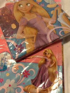 Disney Princesses Tangled Birthday Party Supplies Lunch NapkinsTable Cover NEW #Disney #BirthdayChild
