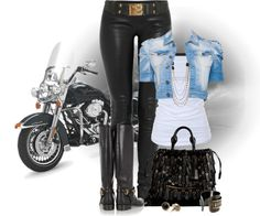 Browse and shop related looks. Trendy Fashion, Womens Fashion, Fashion Sets, Formal Dresses For Weddings, Motorcycle Outfit, Wardrobe Basics, Cool Outfits, Biker Outfits, Complete Outfits