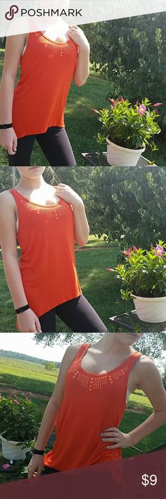Harvest orange tank top This color is perfect for fall. Longer style tank top, longer in the back. In good pre owned condition, size medium. Light signs of laundry wear, very comfy! Tops Tank Tops