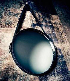 Leather wrapped mirror - part of Diesel/Moroso collaboration collection.