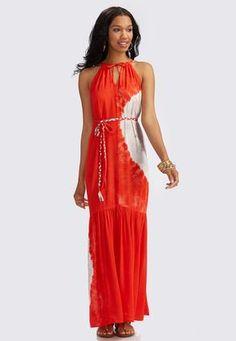 2d3be4153ff Plus size women s fashion · Cato Fashions Belted Tie Dye Maxi Dress   CatoFashions Tie Dye Maxi