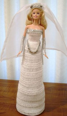BRIDE DOLL - BARBIE (2-007) #DollClothingAccessories
