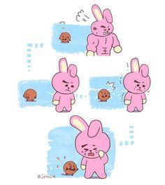 Oh no, Kookie whyyy Cypher Pt 4, Bleach Couples, Line Friends, Bts Drawings, Bts Chibi, Bts Fans, Kpop Fanart, Bts Group, Bts Suga