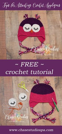 Tips for Attaching Crochet Appliques Free Crochet Tutorial Tip Crafts DIY
