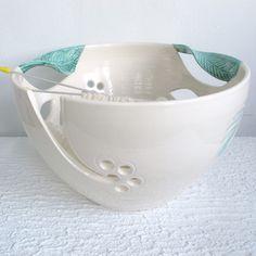 JUMBO Extra Large Knitting Ceramic Yarn Bowl Winter White by BlueRoomPottery | BlueRoomPottery... plus (+)