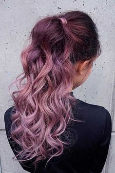 Trendy Hair Color : Chocolate lilac hair: how miraculous it looks dont you think? This new hair Long Hair Cuts, Long Hair Styles, Unicorn Hair Color, New Hair Trends, Hair Shades, Rose Hair, Cool Hair Color, Bad Hair, Purple Hair