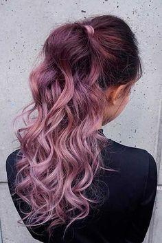 Trendy Hair Color : Chocolate lilac hair: how miraculous it looks dont you think? This new hair Hair Color Balayage, Hair Highlights, Ombre Hair, Haircolor, Rose Hair, Pink Hair, Hair Shades, Cool Hair Color, Great Hair