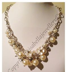 I'm selling Venetian resin pearl and flower necklace - A$25.00 #onselz
