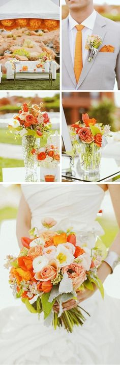An elegant orange pairs perfectly with a fall wedding.