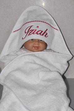 cape de bain / sortie de bain bébé rose fushia : Mode Bébé par lbm-creation