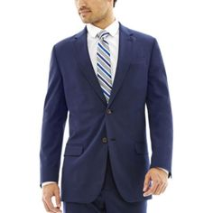 jcp | JF J. Ferrar® Blue Stretch Gabardine Suit Separates - Slim