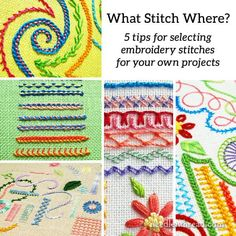 What Stitch Where: 5 Tips for Selecting Embroidery Stitches  for any project - NeedlenThread.com